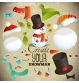 Create your snowman Set of elements for collage vector image vector image
