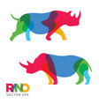 creative rhinoceros animal design vector image