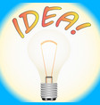 electric light bulb as a symbol of ideas vector image