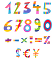 fun numbers vector image