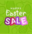 happy easter sale flyer design holiday discounts vector image vector image