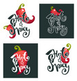 hot and spicy chili pepper logo icons and vector image