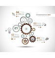 Infographics and High Tech background for business vector image vector image
