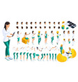 isometric set of gestures of hands and feet vector image vector image