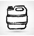 Jerrycan grunge icon vector image vector image