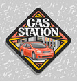 logo for gas station vector image vector image