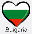 love Bulgaria flag vector image