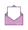 mail letter open envelope message vector image
