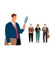man search employee concept vector image vector image