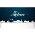 merry christmas winter snow with night countryside vector image vector image
