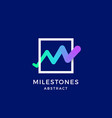milestones line monogram abstract blend vector image vector image