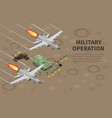military operation isometric composition vector image vector image