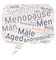 OVERVIEW OF MALE MENOPAUSE text background vector image vector image