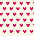 pink heart seamless pattern background romantic vector image vector image