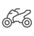 quadbike line icon bike and extreme atv vector image