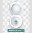 realistic white toilet bowl top view vector image