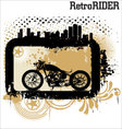 retro rider background vector image
