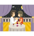 Romantic evening night love beloved dating man vector image