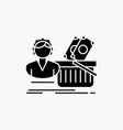 salary shopping basket shopping female glyph icon vector image vector image