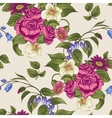 Seamless Floral Pattern with Roses and Wildflowers vector image vector image