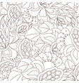 seamless pattern with abstract flower elements vector image vector image
