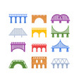set bridges urban architecture and vector image vector image