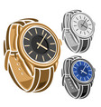 set wrist watches vector image
