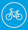 sign bike icon white vector image vector image