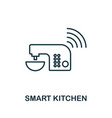 smart kitchen outline icon creative design from vector image