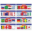 soccer or football set national flags team vector image
