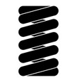 spring coil icon black color flat style simple vector image vector image