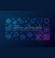 strategy outline creative banner or vector image vector image