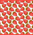 strawberry berries seamless pattern vector image vector image
