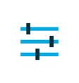 tune icon colored symbol premium quality isolated vector image