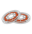 two tape reels icon image vector image vector image