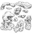 underwater rocks set vector image vector image