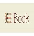 Vintage digital book text vector image