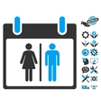 Water Closet Calendar Day Icon With Bonus vector image vector image