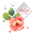 Watercolor greeting card with exotic flowers