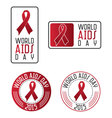 world aids day design elements vector image vector image