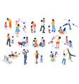 kids minimal people set vector image