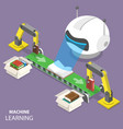 machine learning flat isometric concept vector image