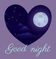 night sky art design moon star paper cartoon vector image