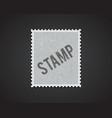 white stamp mockup eps 10 high quality vector image