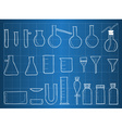 Blueprint of chemical laboratory equipment vector image