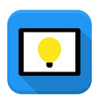 Desk with lamp idea app icon with long shadow vector image