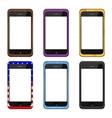 modern smartphone set vector image