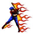 a american baseball player batting vector image vector image