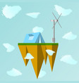 a floating island in the vector image vector image