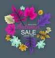 abstract autumn sale background with falling vector image vector image